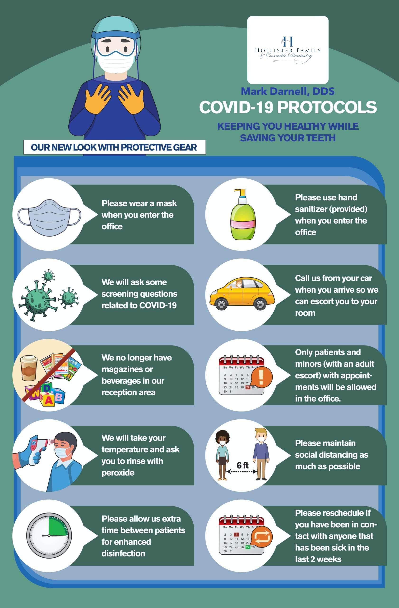 COVID-19 protocols and list of precautions dentist in Hollister, CA